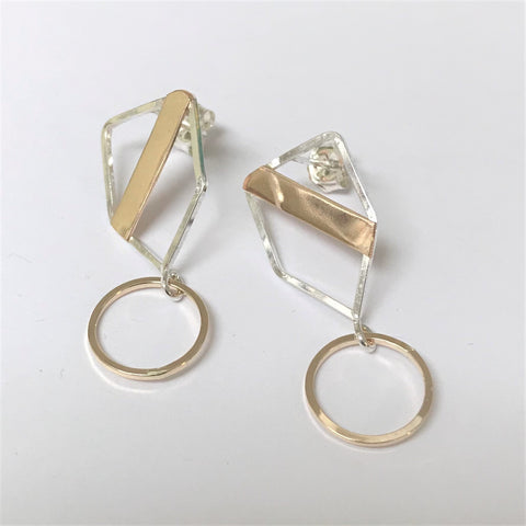 Medals: Sterling Silver and 14/20 Gold-fill Post Earrings