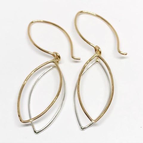 New Leaf: Sterling Silver and 14/20 Gold-filled Earrings
