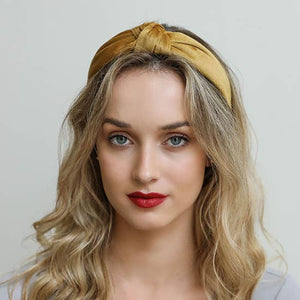 The Blair Waldorf Headband in Velvety Marigold