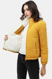The Reversible Sherpa Bomber in Mustard