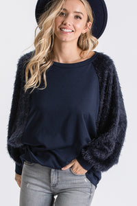 The Astrid Top in Navy