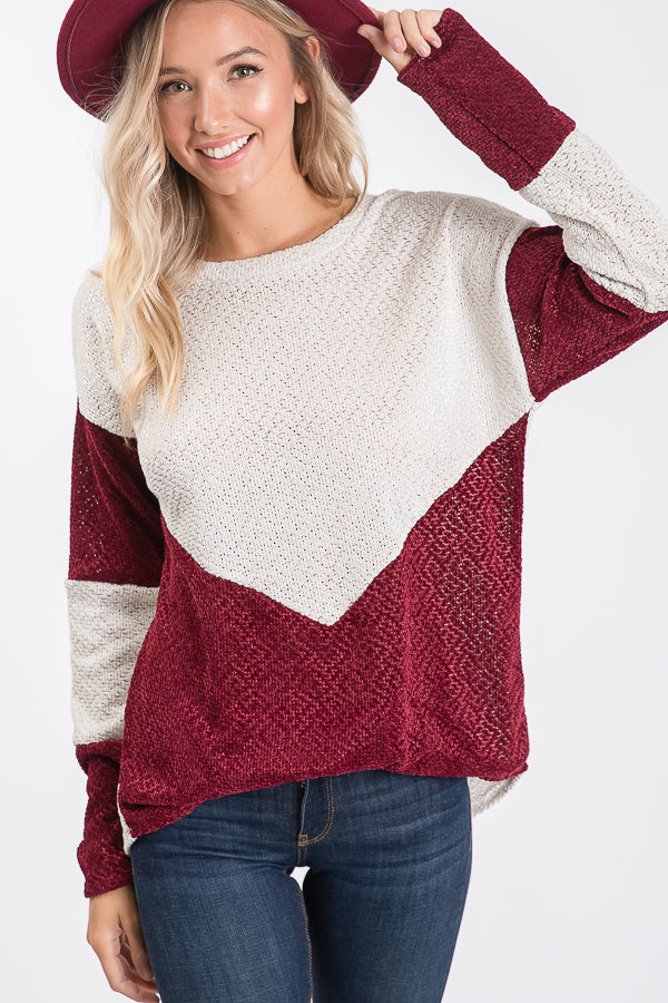 The Mildred Sweater in Wine