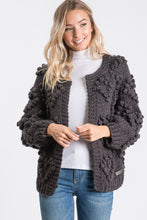 The Knitted Heart Cardi in Charcoal