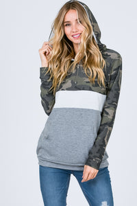 The Camo Color Block Hoodie