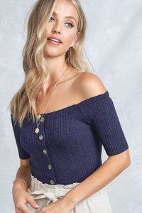 The Kori Top in Ocean (final sale)
