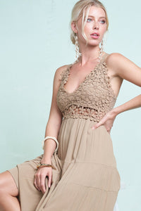 The Lucille Dress in Mocha