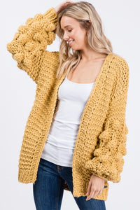 The Knitted Chunky Cardi in Marigold