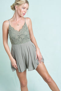 The Louise Romper in Sage