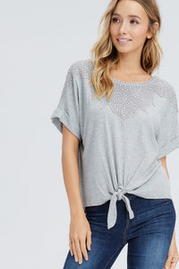 The Millie Top // Grey