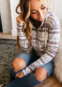 Ampersand Ave Half-Zip Sweatshirt in Aztec