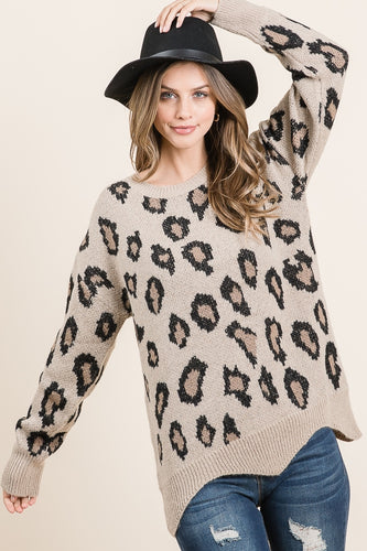 The Harper Pullover in Taupe
