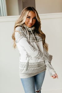 Ampersand Ave DoubleHood Sweatshirt in Snowed In