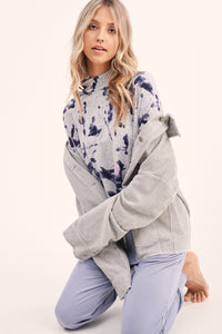 The Tie Dye Mock Neck in Grey