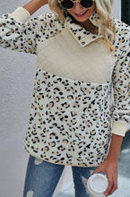 The Leopard Quilted Pullover in Ivory