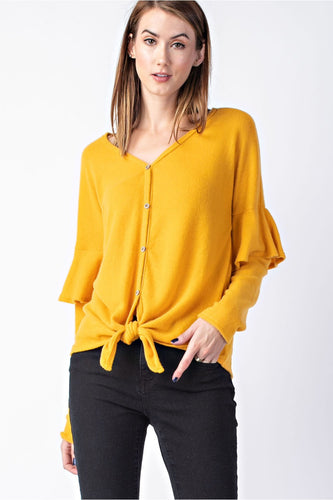 The Fiona Top // Mustard