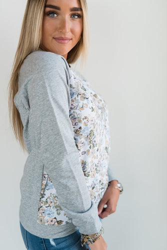 Ampersand Ave Floral Front Pullover