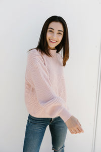 "The Roster ""You are Fearless"" Sweater in Blush"