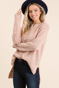 The Spring Knit Sweater in Blush