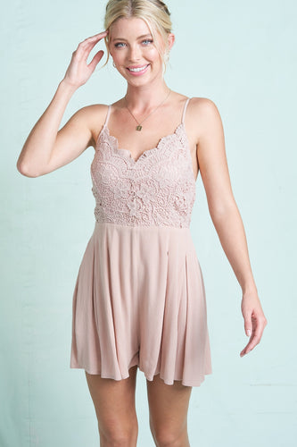 The Louise Romper in Blush