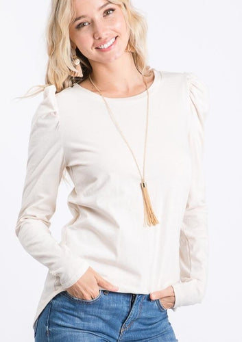 The Bryn Top in Ivory