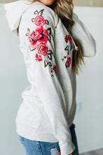 Ampersand Ave DoubleHood Sweatshirt in Embroidered Floral