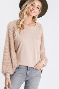 The Astrid Top in Mauve