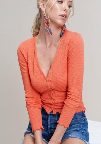 The Blaire Top in Orange