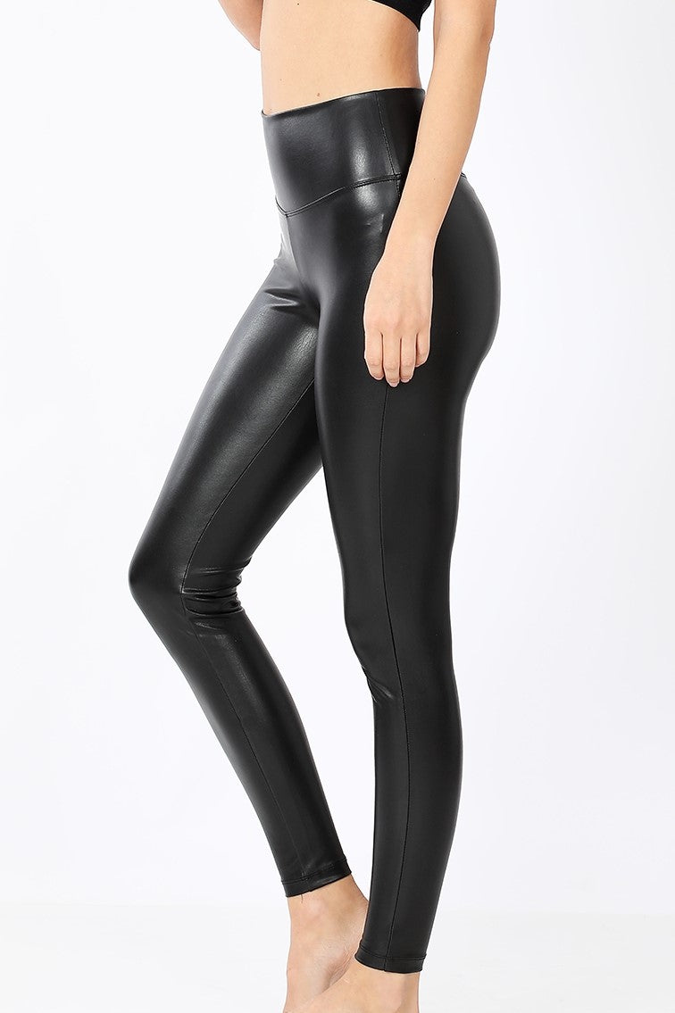 The Becca Vegan Leather Tights