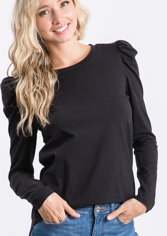 The Bryn Top in Black