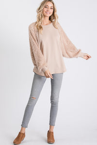 The Astrid Top in Almond