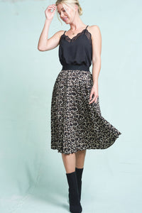 The Eva Skirt in Chai