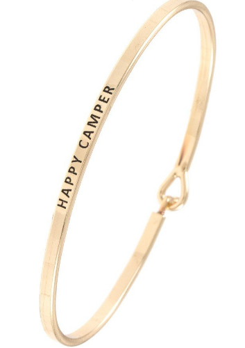 The Happy Camper Bangle // Gold, Rose Gold, Silver