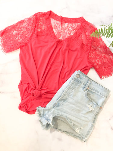 The Lace Sleeve Tee