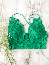 The Lacey Bralette in Jade