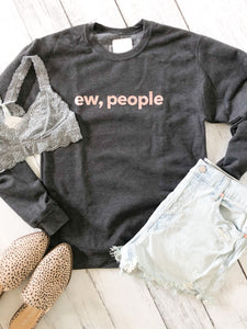 Blonde Ambition // Ew, People Pullover in Charcoal