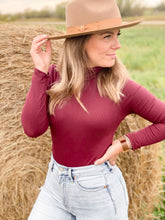 The Basic Bodysuit in Crimson