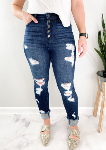 KanCan Gallagher High Rise Distressed Skinny Jeans