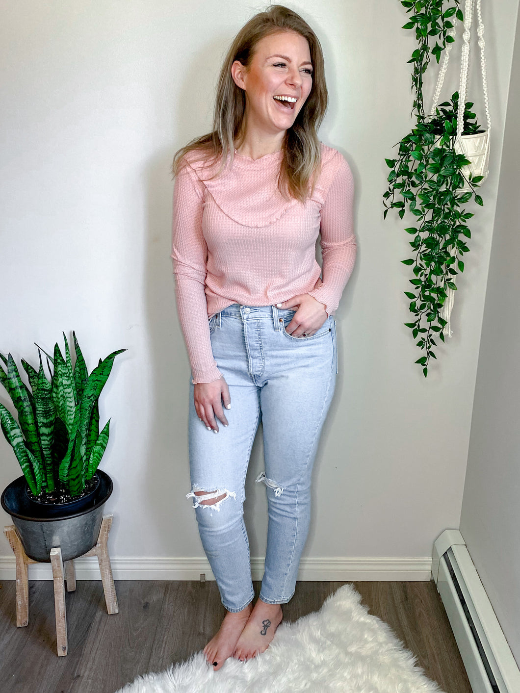 The Lily Top in Dusty Rose