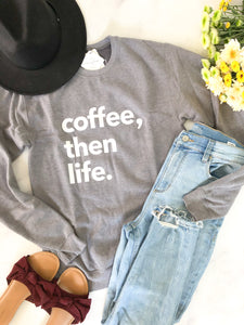 Blonde Ambition // Coffee, Then Life in Heather Grey