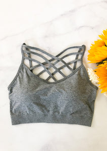 The Sporty Spice Bralette in Grey