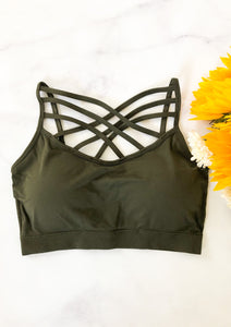 The Sporty Spice Bralette in Olive