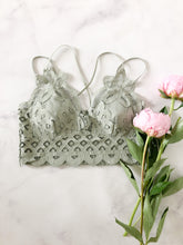 The Lacey Bralette in Dusty Sage