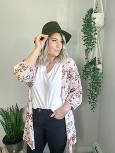 The Nora Wrap Blouse/Kimono in Navy