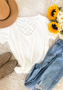 The Basic Lattice Tee in White