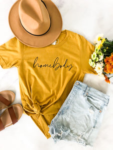 Blonde Ambition // Homebody Tee in Mustard