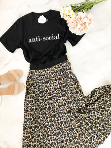 Blonde Ambition // Anti-Social Tee in Black