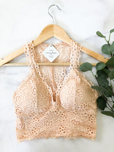 The Lovely Bralette in Apricot