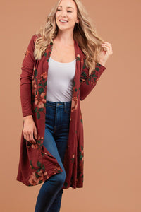 The Anniston Cardi in Burgundy