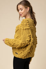 The Knitted Heart Cardi in Marigold