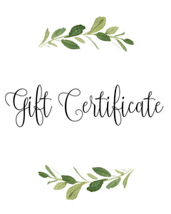 Personalized Gift Certificate (you choose the amount!)